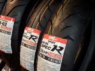 250ccクラスに新タイヤ【IRC RX-03 スペックR】