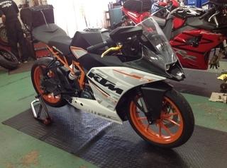 KTM RC250 タイヤ交換