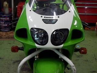 【カワサキ ZX-7R】の前後タイヤ交換 ★ピレリ ディアブロ ロッソコルサ★