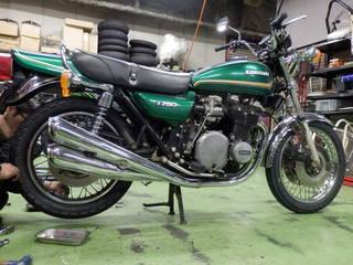 【カワサキ KZ750】タイヤ交換  『ダンロップ TT100GP』
