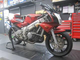HONDA【NSR250R タイヤ交換】ブリヂストン S20EVO