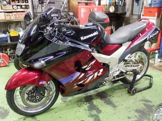 カワサキ ZZR1100『タイヤ交換』ミシュラン パイロットパワー3