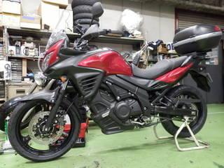 SUZUKI Vストローム『タイヤ交換』ブリヂストン バトラックスアドベンチャーA41