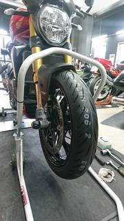 DUCATI MONSTER1200S ブリヂストンS22 前後タイヤ交換