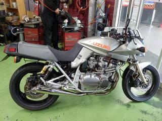 SUZUKI【GSX1100S】刀 前後タイヤ交換 DUNLOP ROAD SMART3