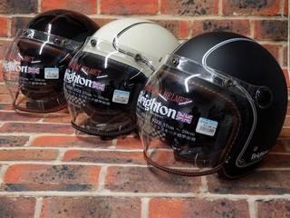 伝統的ブライトンヘルメットに一工夫! なんだかブリティッシュパンク?