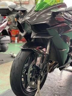 Kawasaki Ninja-H2 ピレリ ディアブロ・ロッソ・コルサ2  タイヤ交換