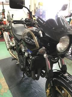 HONDA CB1300SF ダンロップ ロードスマート2 タイヤ交換