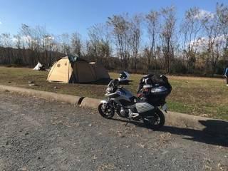 バイクキャンプツーリング『かんなの湯 自由広場』埼玉県児玉郡神川町